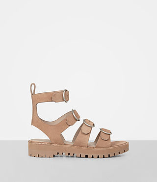 Women's Raquel Suede Sandal (LIGHT CARAMEL)
