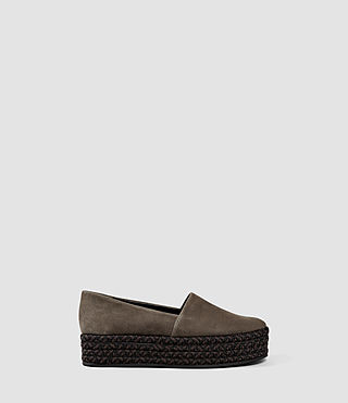 Damen Bora Slip On Shoe (Dark Khaki Green)