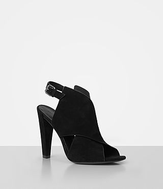 Womens Ulla Suede Sandal (Black) - product_image_alt_text_3