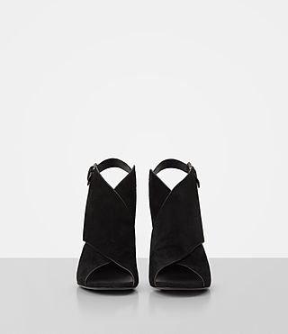 Womens Ulla Suede Sandal (Black) - product_image_alt_text_4