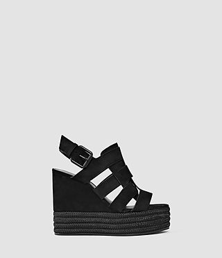 Damen Marzee Wedge Sandal (Black)