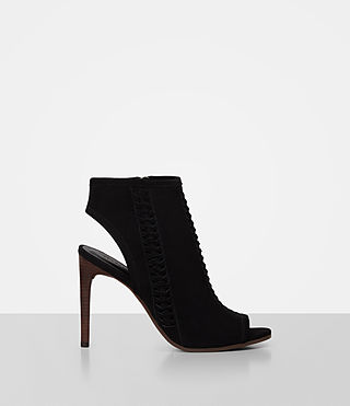 Womens Vibrant Ankle Boot (Black) - product_image_alt_text_1