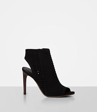 Womens Vibrant Ankle Boot (Black) - product_image_alt_text_3