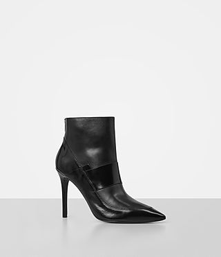 Womens Xavier Heel Boot (Black) - product_image_alt_text_3
