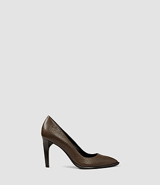 Damen Traif Heel (Dark Khaki Green)