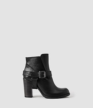 Womens Jules Heeled Boot (Black)