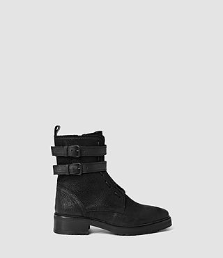 Womens Defoe Straps Boot (Black)