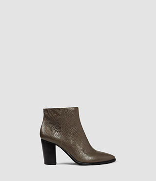 Damen Iris Heel Boot (Dark Khaki Green)