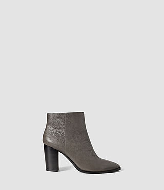 Womens Iris Heel Boot (Dark Grey)