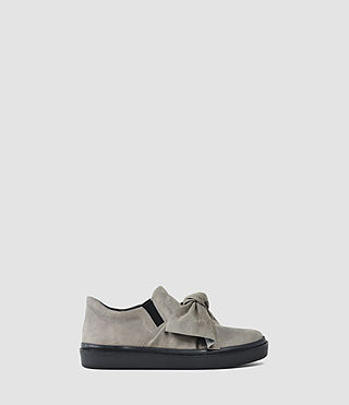 Womens Zale Leather Low Top (Grey)