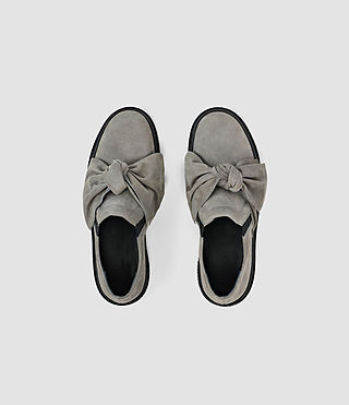 Mujer Zale Leather Low Top (Grey) - product_image_alt_text_4
