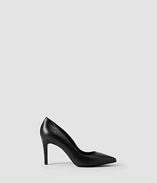 Womens Lena Pump (Black Crackle)