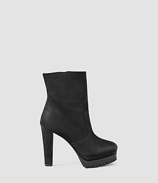 Donne Gosset Shearling Boot (Black)