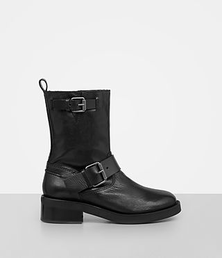 Womens Zadie Biker Shearling Boot (Black)