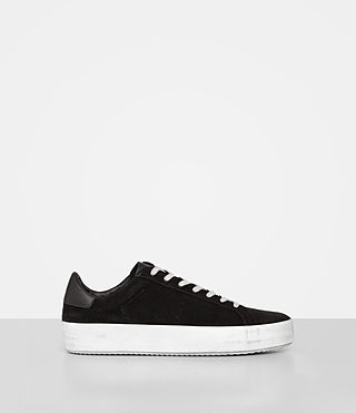 Mujer Safia Suede Sneaker (Black) - product_image_alt_text_1