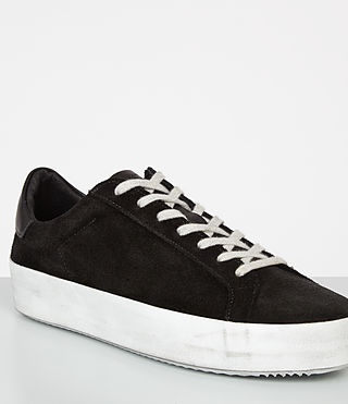 Mujer Safia Suede Sneaker (Black) - product_image_alt_text_2