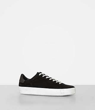 Mujer Safia Suede Sneaker (Black) - product_image_alt_text_3