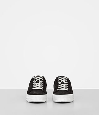 Mujer Safia Suede Sneaker (Black) - product_image_alt_text_4