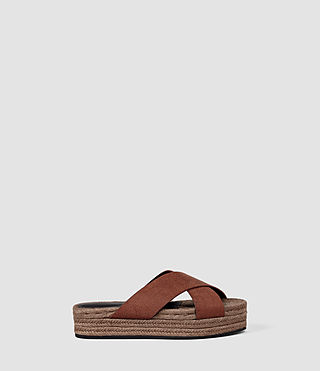 Women's Harlem Sandal (BRICK BROWN)