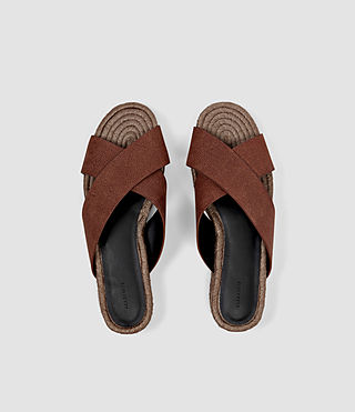 Women's Harlem Sandal (BRICK BROWN) - product_image_alt_text_4