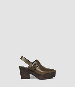 Femmes Gothenberg Shoe (Dark Khaki Green)