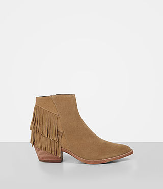 Donne Salerno Suede Boot (Mustard) -