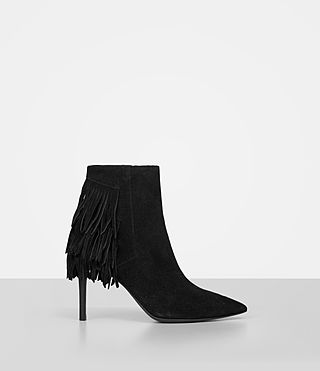 Womens Xandra Suede Boot (Black)
