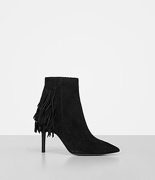 Women's Xandra Suede Boot (Black) - product_image_alt_text_3
