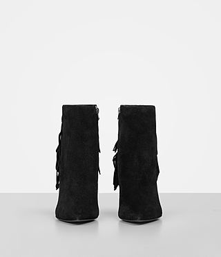 Women's Xandra Suede Boot (Black) - product_image_alt_text_4