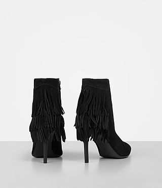 Women's Xandra Suede Boot (Black) - product_image_alt_text_5
