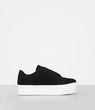 Womens Aya Suede Sneaker (Black) - product_image_alt_text_1