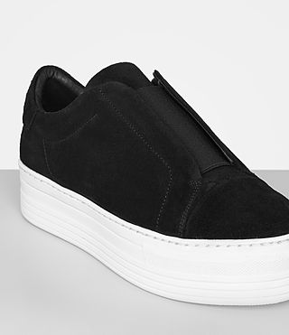 Womens Aya Suede Sneaker (Black) - product_image_alt_text_2