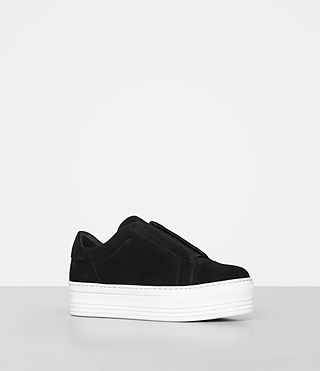 Womens Aya Suede Sneaker (Black) - product_image_alt_text_3