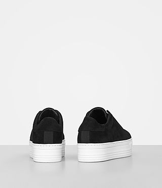 Womens Aya Suede Sneaker (Black) - product_image_alt_text_5