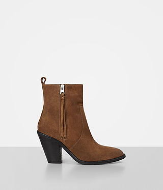 Womens Lorna Suede Boot (Tan) - product_image_alt_text_1
