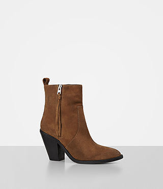 Damen Lorna Suede Boot (Tan) - product_image_alt_text_3