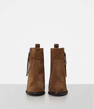 Womens Lorna Suede Boot (Tan) - product_image_alt_text_4