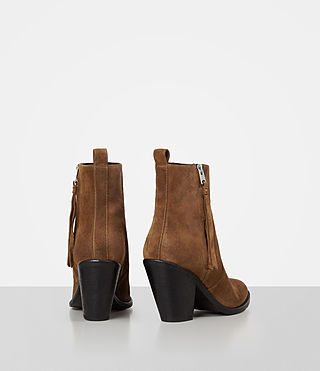 Womens Lorna Suede Boot (Tan) - product_image_alt_text_5