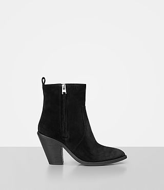 Damen Lorna Suede Boot (Black)