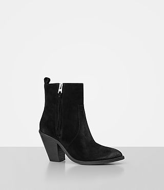 Women's Lorna Suede Boot (Black) - product_image_alt_text_3