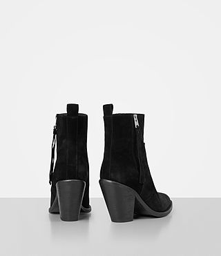 Women's Lorna Suede Boot (Black) - product_image_alt_text_5