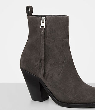 Damen Lorna Suede Boot (Grey) - product_image_alt_text_2
