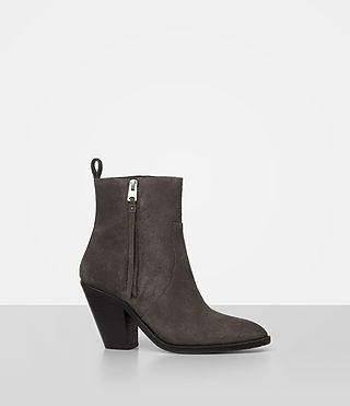 Damen Lorna Suede Boot (Grey) - product_image_alt_text_3