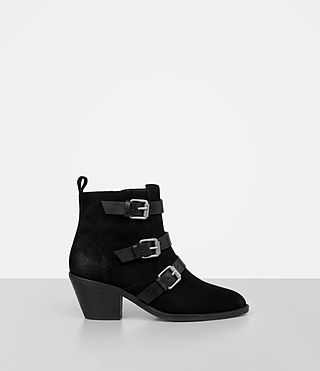 Womens Lulu Suede Boot (Black)