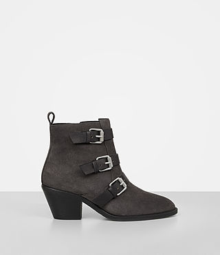 Womens Lulu Suede Boot (Grey)