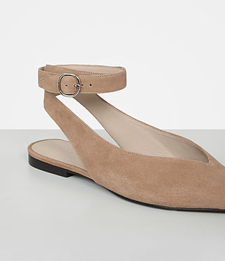 Womens Cory Suede Shoe (LIGHT CARAMEL) - product_image_alt_text_3
