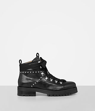 Womens Sherrin Studded Boot (Black) - product_image_alt_text_1