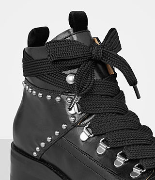 Womens Sherrin Studded Boot (Black) - product_image_alt_text_2