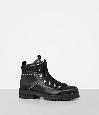 Womens Sherrin Studded Boot (Black) - product_image_alt_text_3