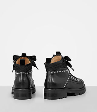 Womens Sherrin Studded Boot (Black) - product_image_alt_text_5